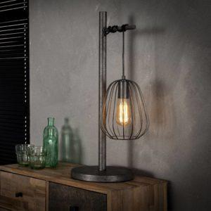 Lampoon tafellamp oud zilver