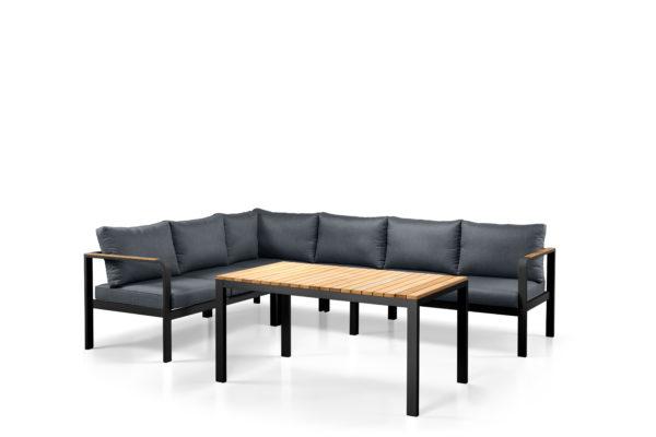 Tuti lounge dining corner set grey