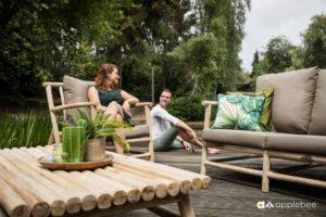 Houten tuinstoelen