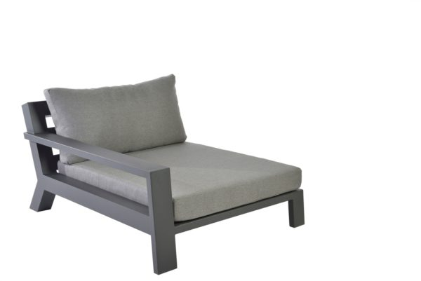 Borek Viking XL Lounge Right Aluminium Antraciet