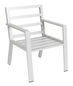 Borek Diningstoel Viking Aluminium White