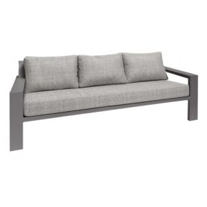 Borek Lage Bank Lounge Viking Aluminium Antraciet