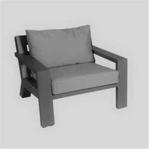 Borek Lounge Chair Viking Aluminium Antraciet