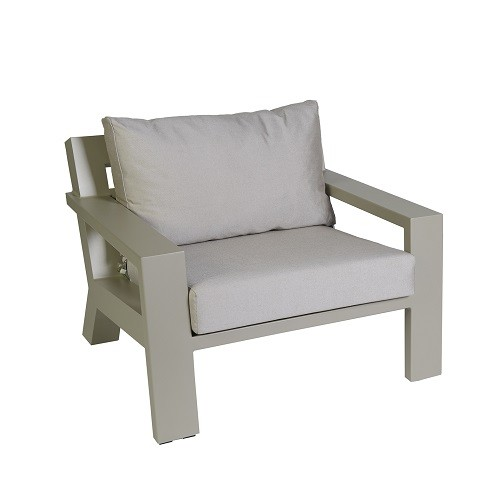 Borek Lounge Chair Viking Aluminium Pearl Grey