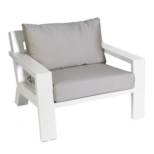 Borek Lounge Chair Viking Aluminium White
