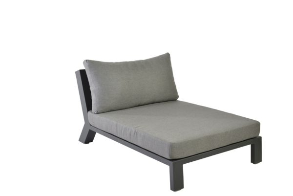 Borek Lounge Middle Viking Aluminium Antraciet