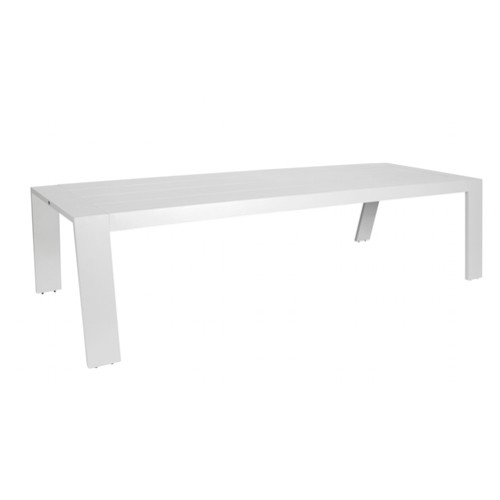 Borek Low Diningtafel Viking Aluminium White