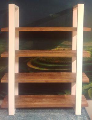eleonora mango boekenast 160 cm wit