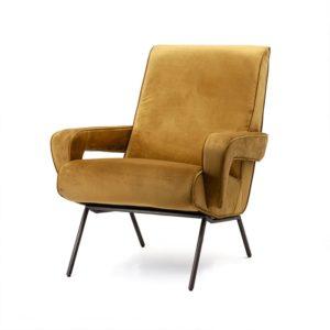 Eleonora Lana fauteuil oker velvet