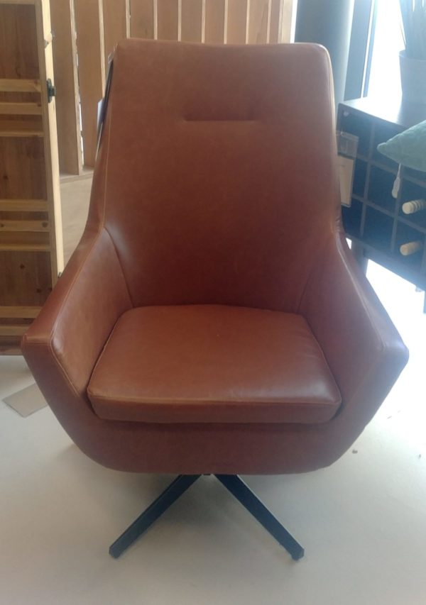 Dutchbone Don fauteuil cognac showroommodel