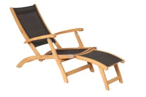 Traditional Teak Deckchair Kate Black