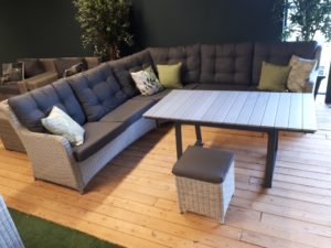 Suns Lounge Diningset Almeria 5-Delig White Grey