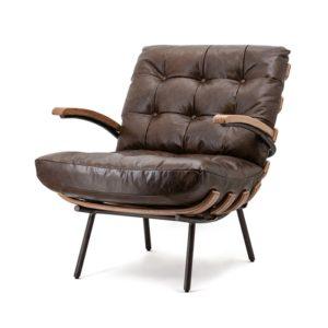 Eleonora Bastiaan fauteuil donkerbruin