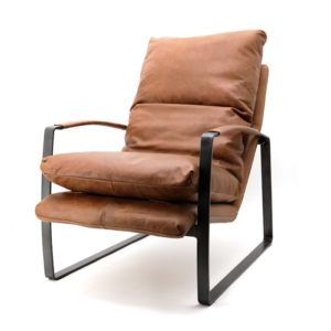 Eleonora Lex fauteuil cognac vintage leer