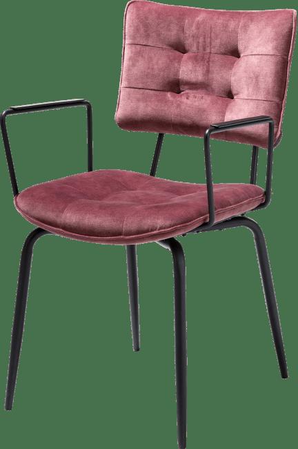Henders en Hazel Manou armstoel Karese burgundy red
