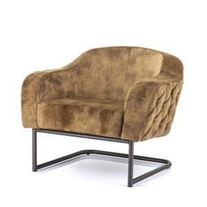 Eleonora Paulette fauteuil stof Bonnie oker