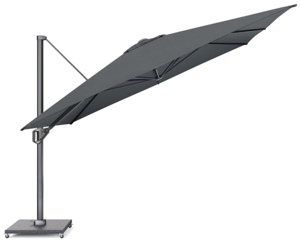 Platinum Zweefparasol Challenger 350x350 Faded Black