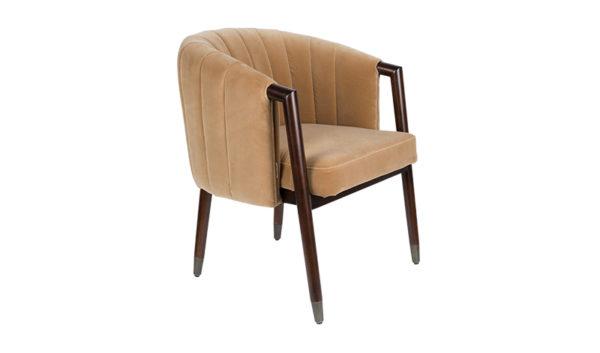 Dutchbone Tammy fauteuil caramel