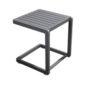 Yoi Sidetable Hokan Dark Grey Aluminium