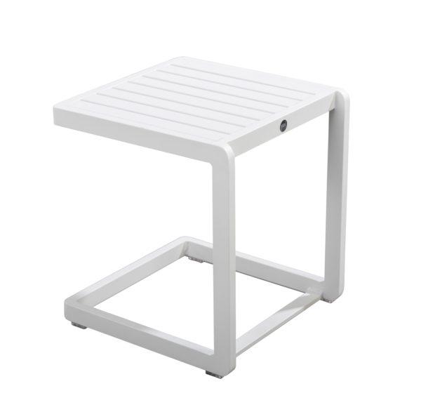 Yoi Sidetable Hokan White Aluminium