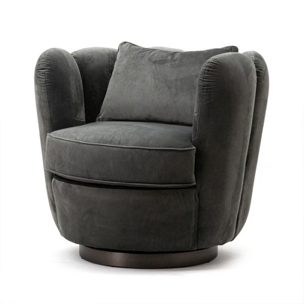 Eleonora Maria fauteuil velvet grijs