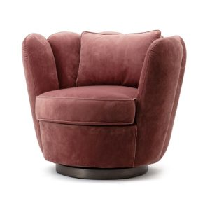 Eleonora Maria fauteuil velvet roze