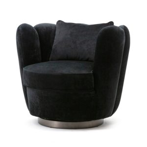 Eleonora Maria fauteuil velvet zwart