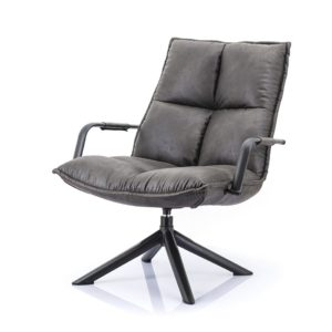 Eleonora Mitchel fauteuil Topper antraciet