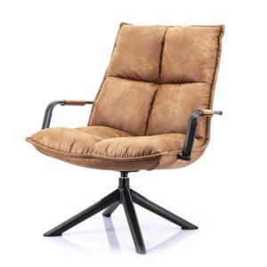 Eleonora Mitchel fauteuil Topper cognac