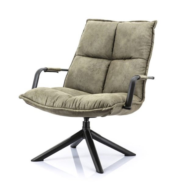 Eleonora Mitchel fauteuil Topper groen