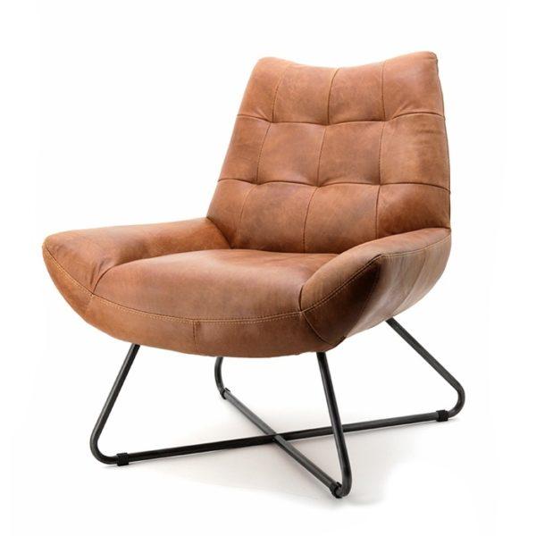 Eleonora Pedro fauteuil vintage leer cognac