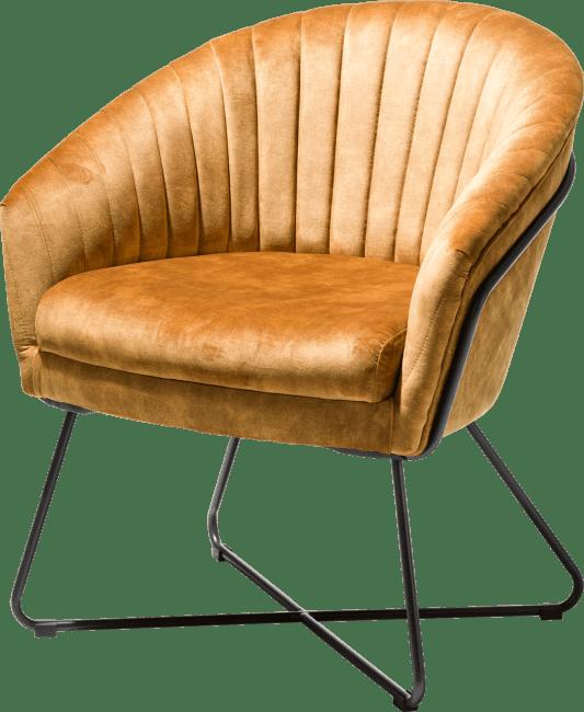 Henders en Hazel Cayenne fauteuil oker