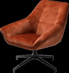 Henders en Hazel Reggio fauteuil Karese koper