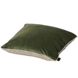 Madison Sierkussen Velvet Army Green-Panama Linnen