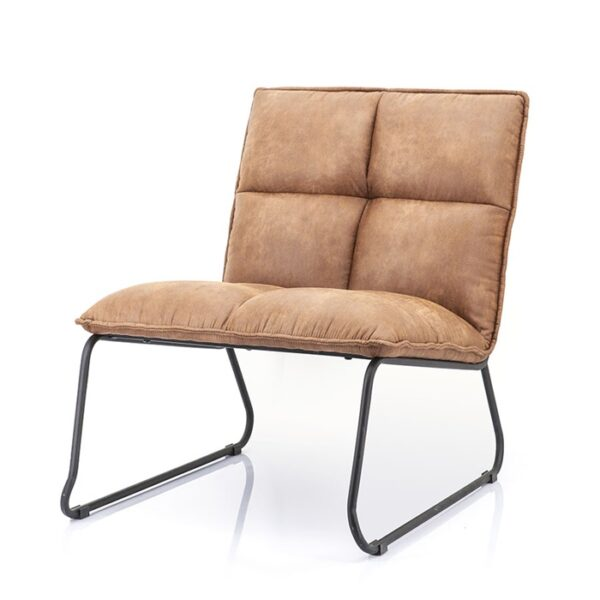 Eleonora Ruby fauteuil topper cognac