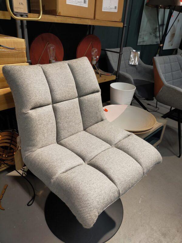 Dutchbone Bar mini loungchair licht grijs showroommodel