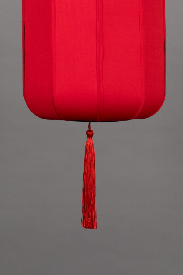 Dutchbone Suoni hanglamp S rood detail