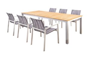 Yoi Diningset Arashi Ishi 7-Delig Light Grey