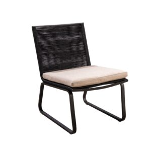Yoi Loungechair Kome Rope Black Flax