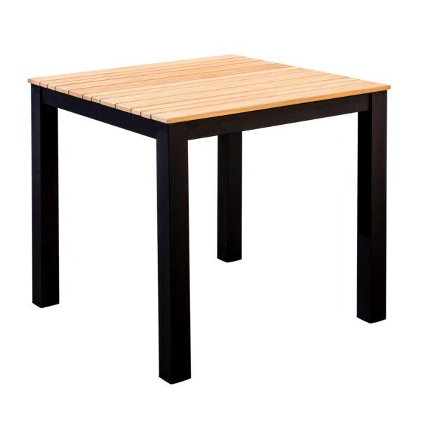 Yoi Tuintafel Arashi 76x76 cm Black Teak