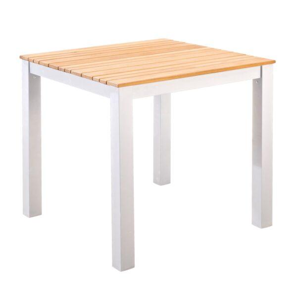 Yoi Tuintafel Arashi 76x76 cm White Teak