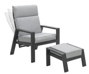 Recliner Max dark grey grey cushion