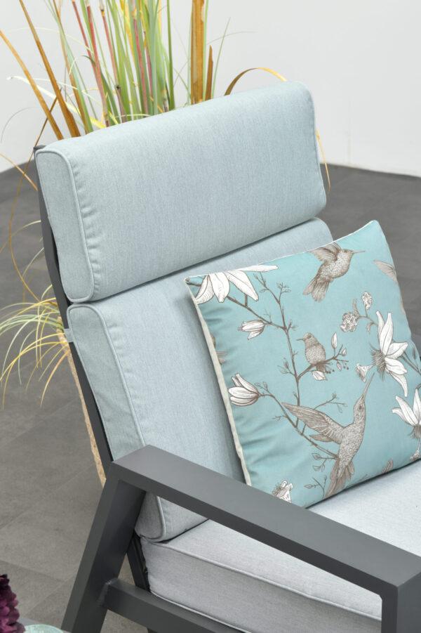 Garden Impressions Verstelbare Loungechair Max + Voetenbank Mint