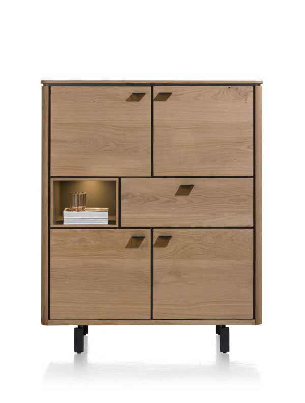 Henders en Hazel Livada highboard Railway brown