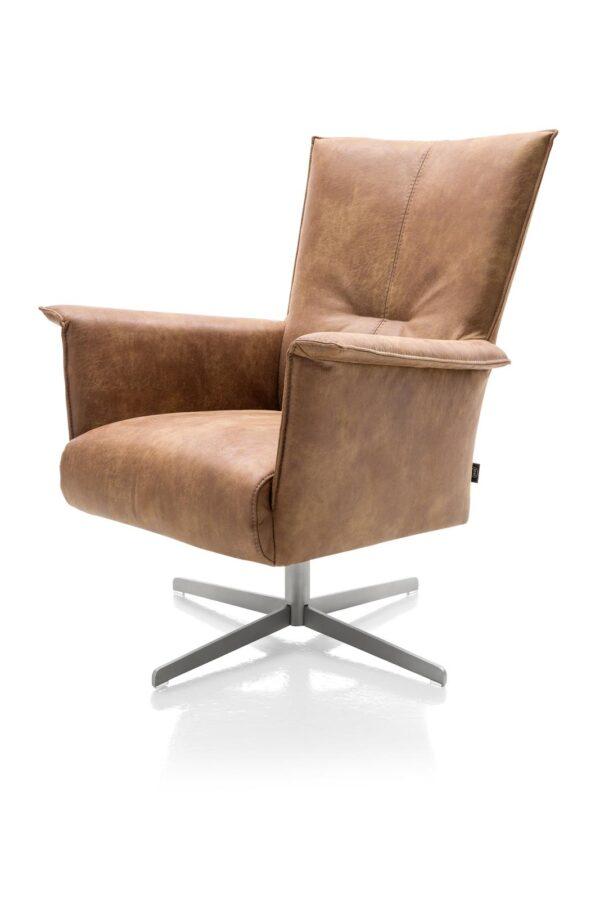 Ik ben snel leverbaar - Carola fauteuil hoge rug Corsica cognac