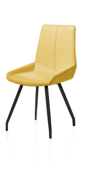Henders en Hazel Levi eetkamerstoel gebogen zwart frame Catania geel