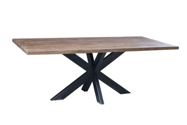 Hudson tafel 220 x 95 cm met spinpoot