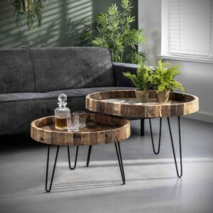 Lodge salontafel set van twee