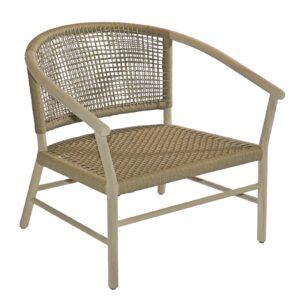 Max & Luuk Kevin Lounge Chair Teak Frame Camel