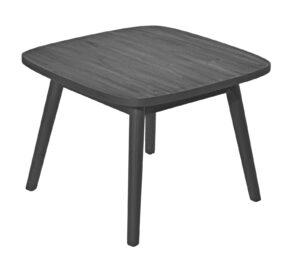 Max & Luuk Lennon Side Table Teak 60x60 cm Charcoal